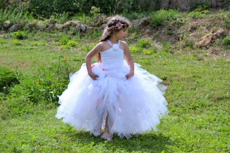 robe en tulle enfant mariage bapteme