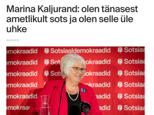 Lõuna-Eestis võidutses Kaljurand