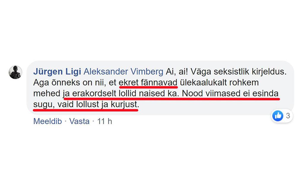 APPI! Kas EKRE-t esindavad tõesti ainult lollid ja kurjad naised nagu Jürgen Ligi kirjutab?