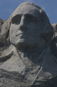 President George Washington close-up, Mt. Rushmore