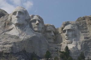 Photo of Mt. Rushmore showing all four faces