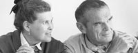 ray and Charles Eames, B&W