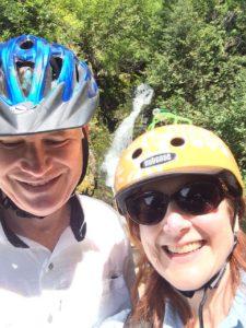 Klee & Lou Nell Selfie w/bike helmets