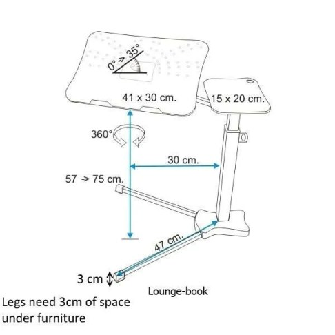 Lounge-book measures and details