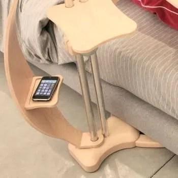 Supporto per notebook e ipad Lounge-wood natural portaoggetti