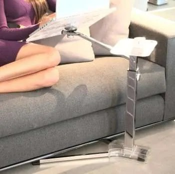 Tavolo per notebook Lounge-book crystal chromesnodi e regolazioni