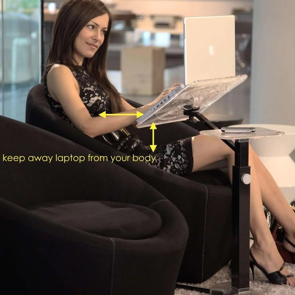 support ergonomique ordinateur portable