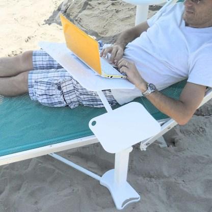 laptop beach recliner