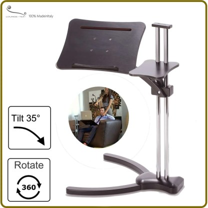Laptop table to use mobile device ergonomic