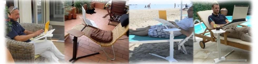 használja a szabadtéri laptopját, a strandon, a medence mellett, a teraszon. Ergonomikus Kényelmes.