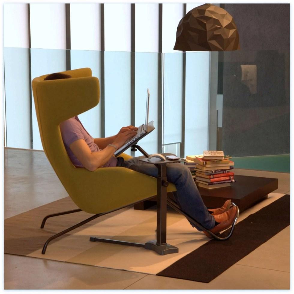 støtter forbedrer ergonomisk bruk av bærbare datamaskiner hjemme
