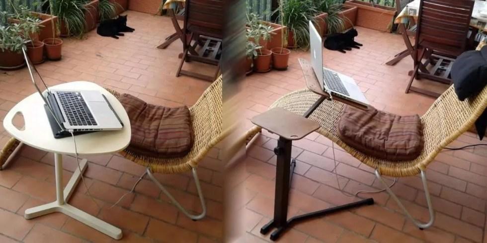 mesa de centro ikea dave para laptop vs. mesa ergonómica ajustable para laptop