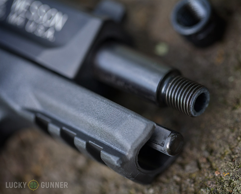 hight resolution of s w m p 22 compact threaded muzzle