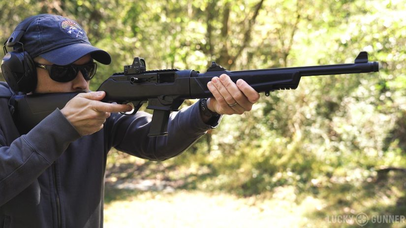 Chris shooting the Ruger PC Carbine