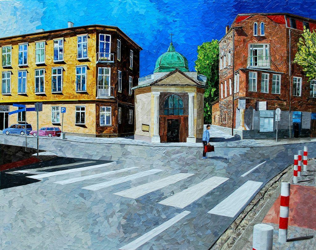 Papierowe malarstwo Albina Talika wMashroom