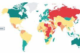 Pokojowe satystyki światowego wskaźnika