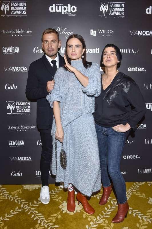 Spotkanie prasowe 10. edycji Fashion Designer Awards Agnieszka Dygant iDawid Woliński - selfie naspotkaniu 10. edycji Fashion Designer Awards! 5