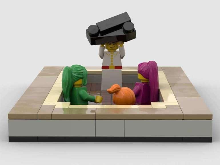 lego Artysta walczy przy pomocy klocków LEGO 2