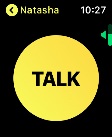 Simply press and hold the big 'TALK' button whilst speaking!