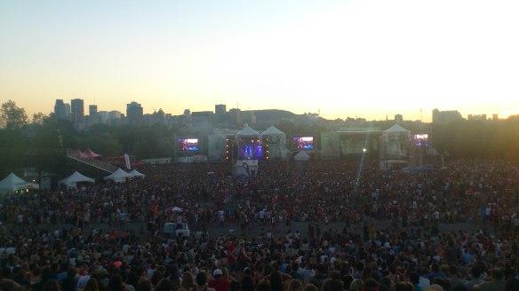La foule devant Florence and the Machine