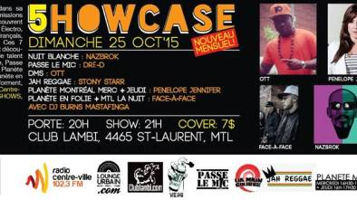 5howcase Octobre 2015