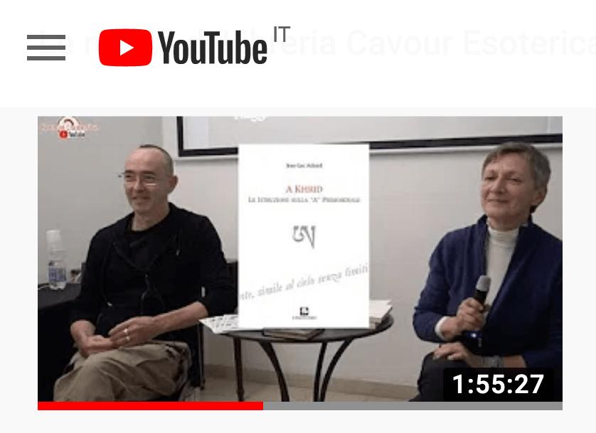 """Il Video della presentazione del volume: A Khrid: le istruzioni sulla """"A"""" primordiale"""