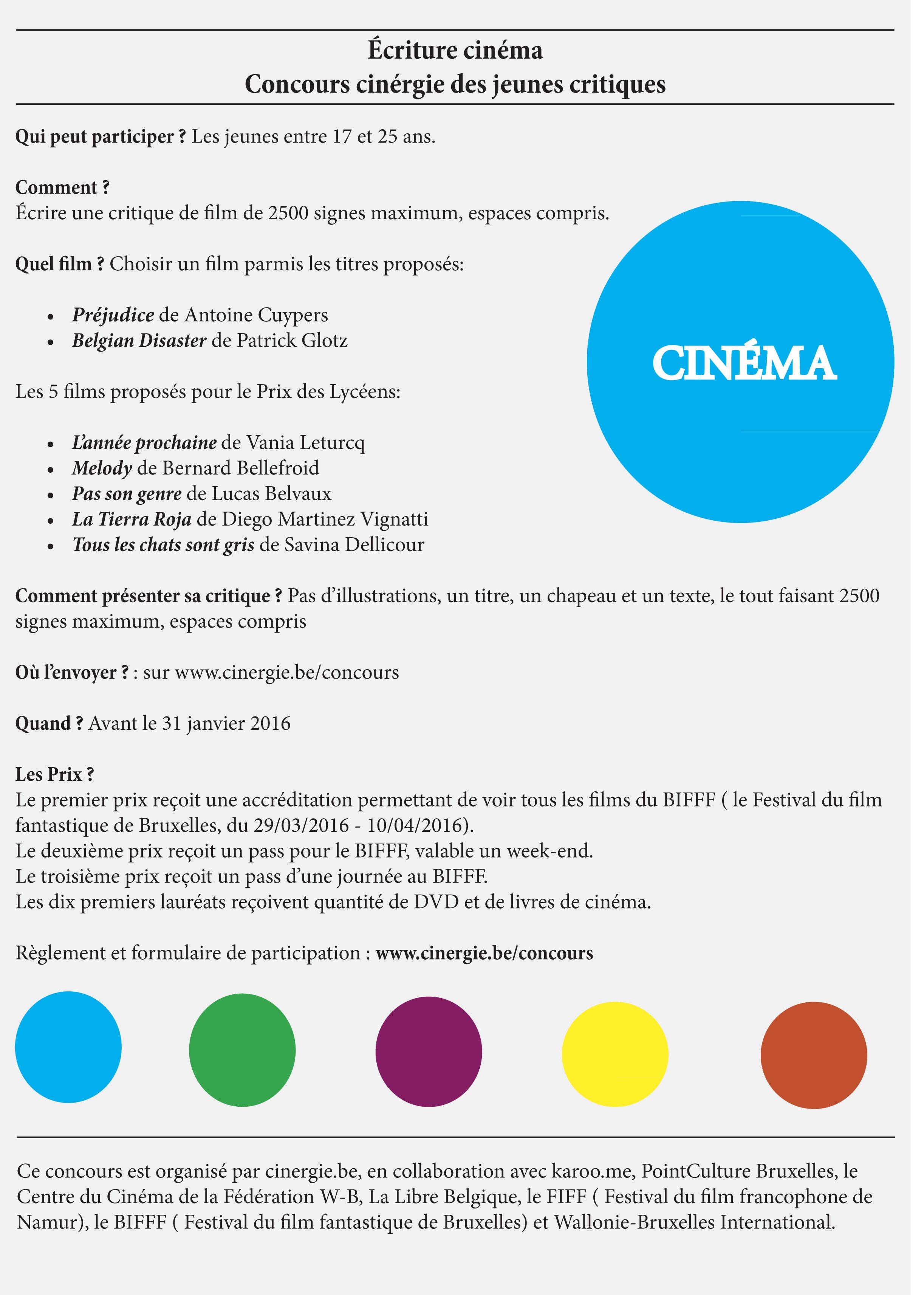 Comment Faire Une Critique De Film : comment, faire, critique, Concours, Cinergie, Jeunes, Critiques, Loupiote