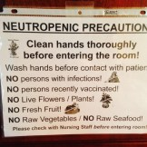 No jokes with germs