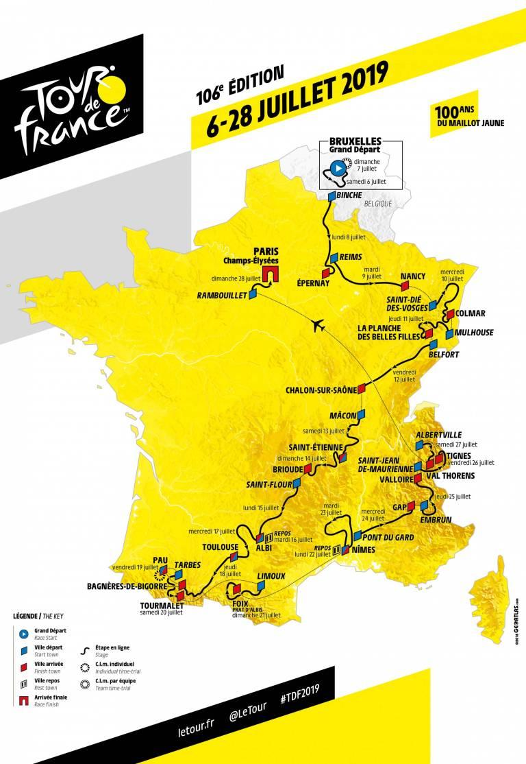 Tour de France 2019 : 3 étapes dans notre région !