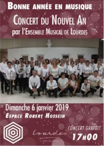 Ne ratez pas le Concert du nouvel an de l'Ensemble Musical de Lourdes le 6 janvier