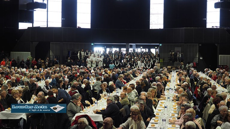 Lourdes : 1 100 personnes au Repas de aînés