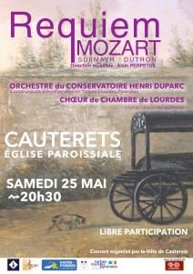 Read more about the article Concert  « Requiem » de Mozart Samedi 25 mai – 20h30 Église de Cauterets