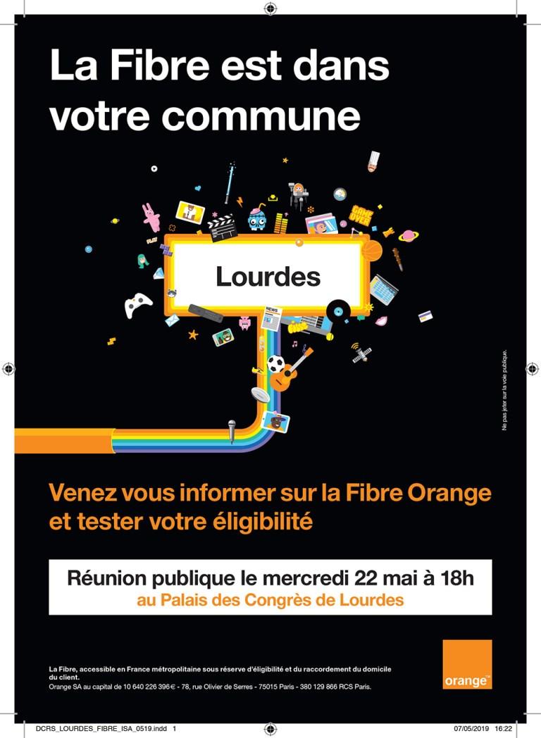 Lourdes : Réunion Publique d'information sur la Fibre optique avec les conseillers d'Orange le 22 mai