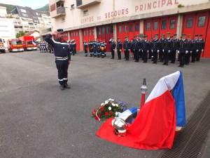 Passation de commandement chez les Pompiers du Centre de Secours de Lourdes