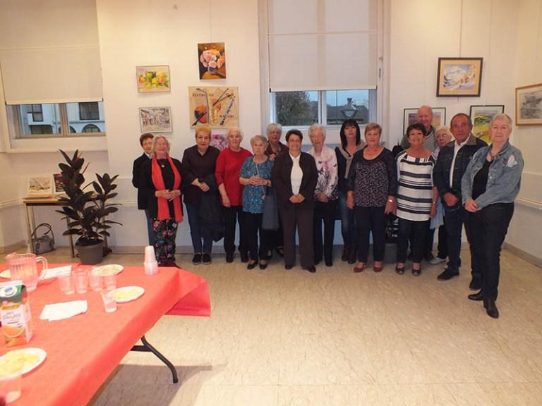 Lourdes : Vernissage de l'expo des peintres de l'Atelier du Club de Sarsan