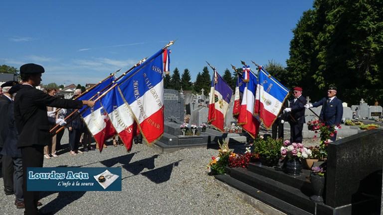 Très belle cérémonie commémorant le 75ème anniversaire de la Libération de Lourdes