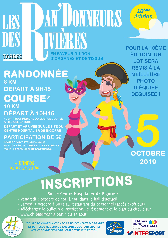 10ème édition de la manifestation sportive «Les Ran'Donneurs des Rivières» le 5 octobre