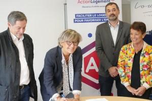 Signature de la convention entre la ville de Lourdes, Action Logement et la Communauté d'Agglomération Tarbes Lourdes Pyrénées