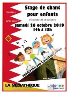 Médiathèque : stage de chant pour enfants