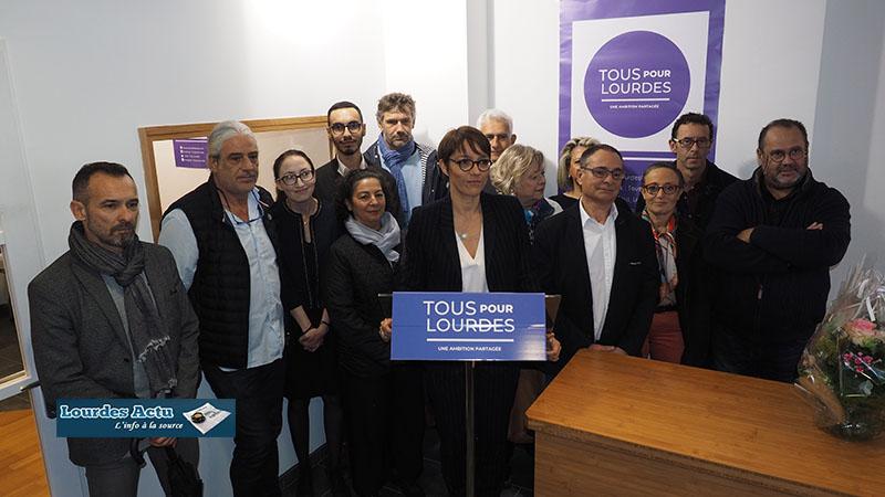 Inauguration du local de campagne de la candidate «Tous pour Lourdes», Stéphanie Lacoste
