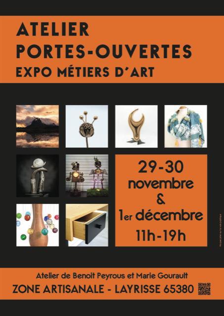Layrisse : expo (portes-ouvertes atelier) de Benoit Peyrous et Marie Gourault les 29, 30 novembre et 1er décembre