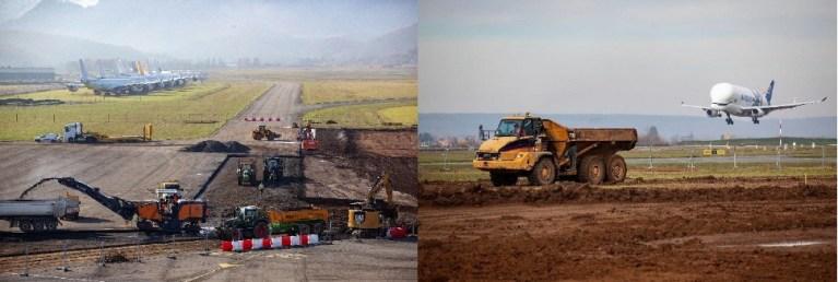 Importants travaux de réfection des chaussées aéronautiques de l'Aéroport Tarbes Lourdes Pyrénées.