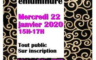 Lourdes : Atelier enluminure à la Médiathèque le 22 janvier