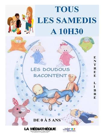 Lourdes : à la Médiathèque : les doudous racontent tous les samedis