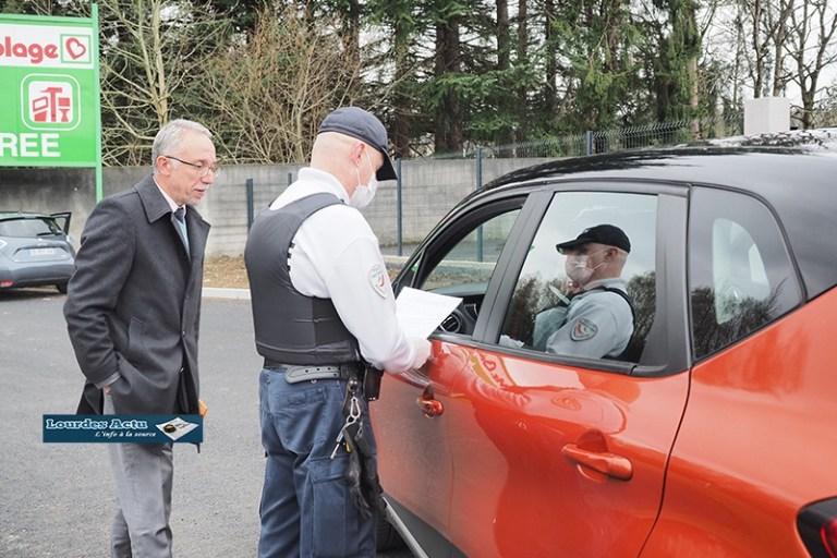 Contrôles préfectoral pour s'assurer du respect des mesures de confinement