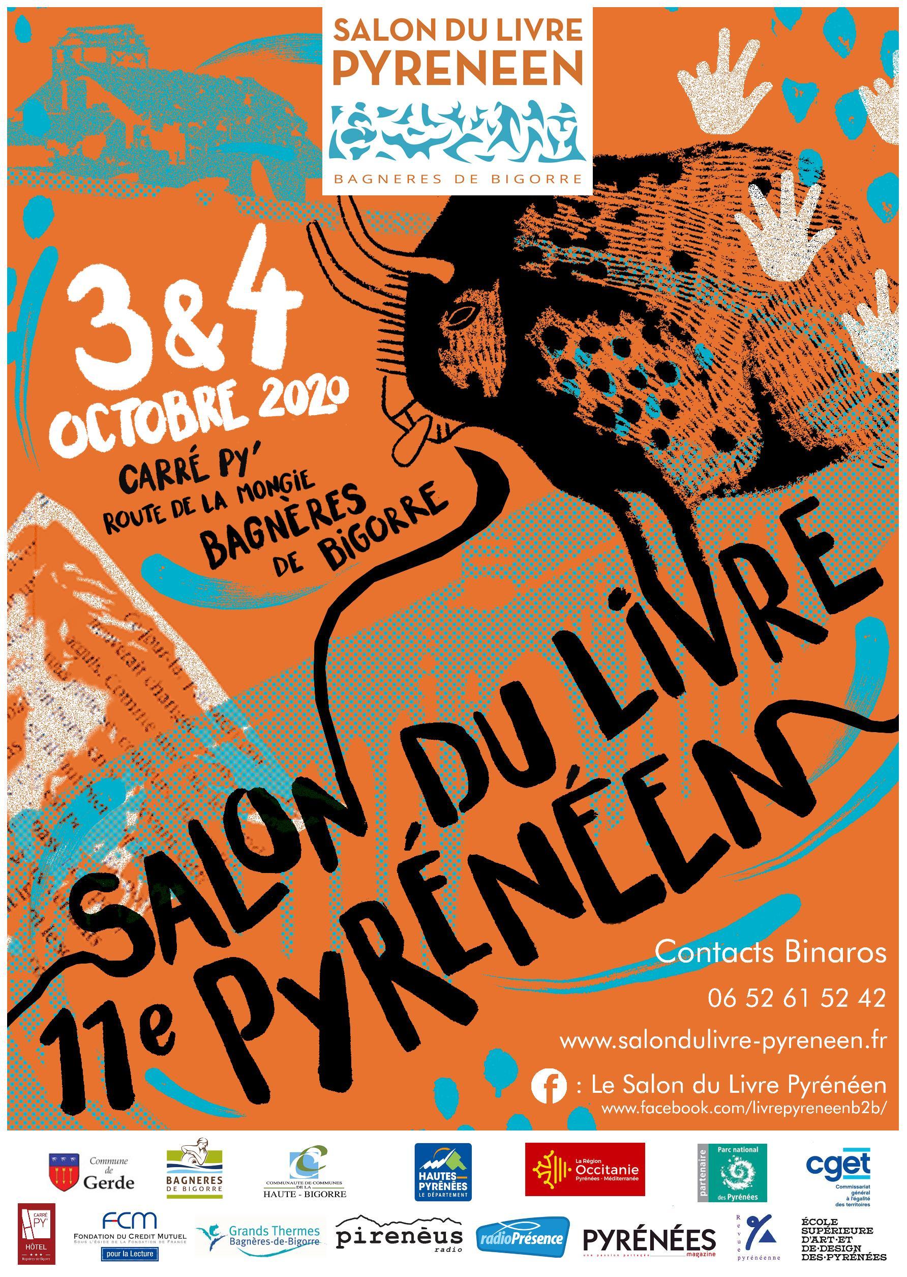 Bagnères-de-Bigorre : présentation de la nouvelle Affiche du 11ème Salon du Livre Pyrénéen du 3 et 4 octobre 2020