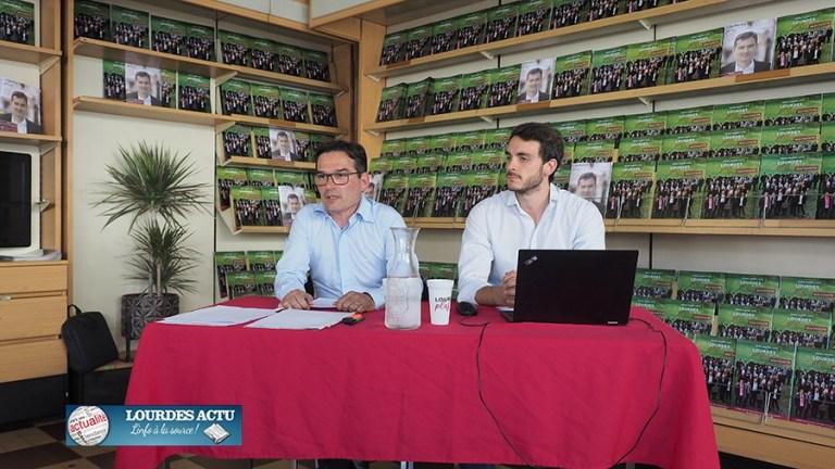 Dernière conférence de presse de Thierry Lavit tête de liste de «Lourdes, plus qu'une ville»