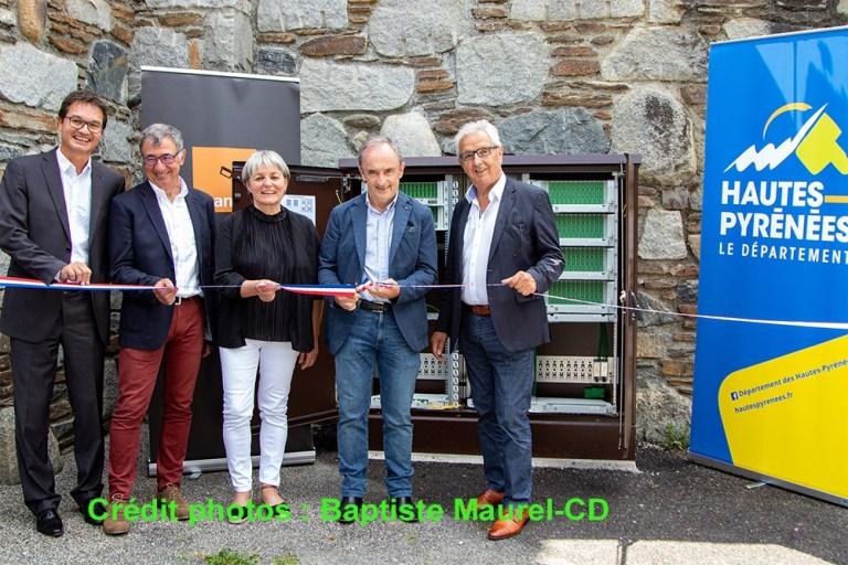 Sain-Lary : Inauguration de l'une des premières armoires fibre optique très haut débit