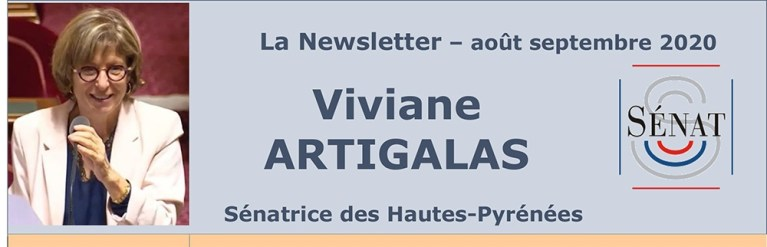 La Newsletter (août/septembre 2020) de la Sénatrice des Hautes-Pyrénées Viviane Artigalas
