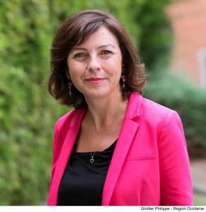 Carole Delga, Présidente de la Région Occitanie en visite à Lourdes le 24 septembre
